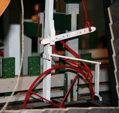 krabbelwerk van de Eenhoorn in model