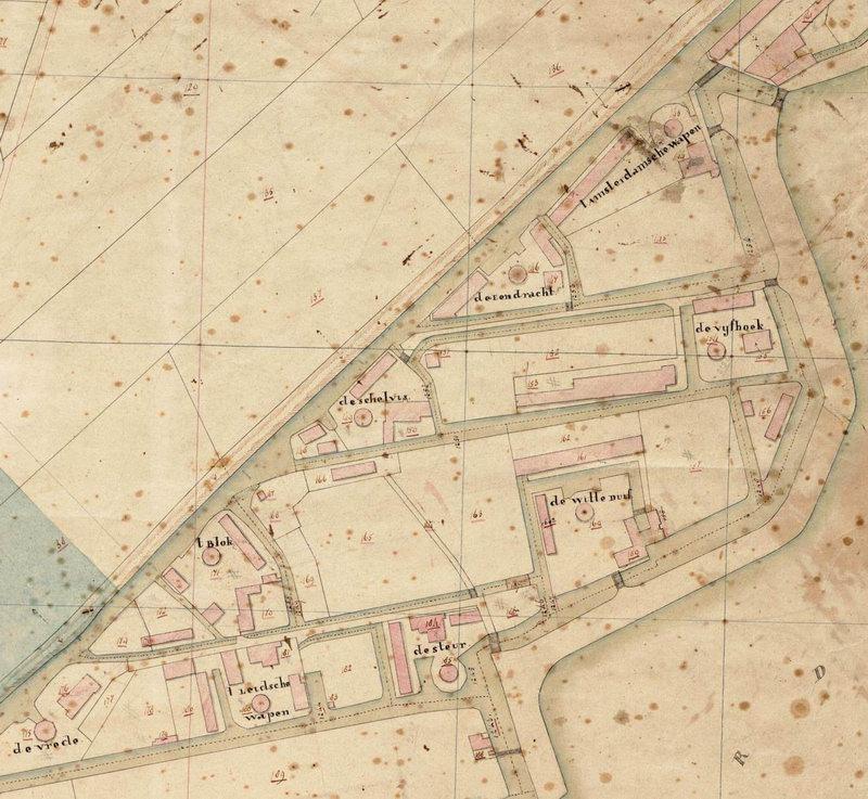 detail van de kaart van F.J.Nautz