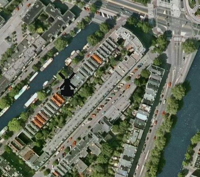 De exacte lokatie op Google earth