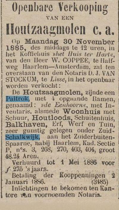 het nieuws van de dag 14-11-1885