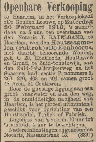 het nieuws van de dag 5-02-1910